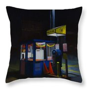 Central Parking Throw Pillow