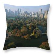 Central Parks Bethesda Fountain Throw Pillow