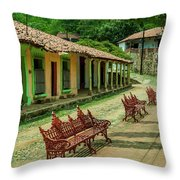Central Plaza In Copala Throw Pillow