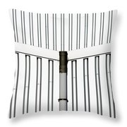 Central Rain Pipe Throw Pillow