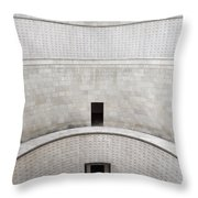 Central Tower With Skylight Cross And Names Of The Interred At T Throw Pillow