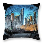 Central View Throw Pillow