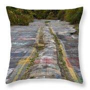 Centralia Graffiti Highway Throw Pillow