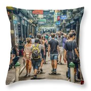 Centre Place Bustle Throw Pillow
