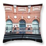 Centro Espanol Throw Pillow