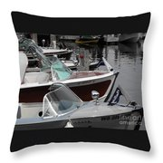 Century Boats Throw Pillow