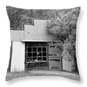 Century Old Storefront Throw Pillow
