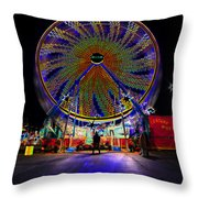 Century Wheel Throw Pillow