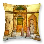 Ceramic Laboratory Throw Pillow