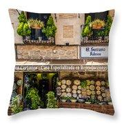 Ceramic Shop - Toledo Spain Throw Pillow