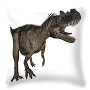 Ceratosaurus Dinosaur Roaring Throw Pillow