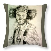 Ceremonial Clown Throw Pillow
