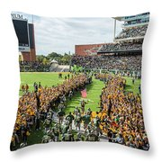 Ceremonial Running Of The Baylor Line Throw Pillow