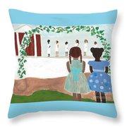 Ceremony In Sisterhood Throw Pillow