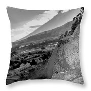 Cerro De La Cruz Bnw Throw Pillow
