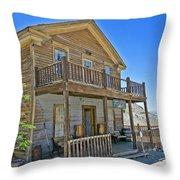 Cerro Gordo Ghost Town Hotel Throw Pillow