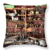 Cerro Gordo Museum Throw Pillow