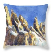 Cerro Torre, Patagonia Throw Pillow