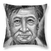 Cesar El Santo Throw Pillow