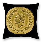 Julius Cesar Roman Coin Throw Pillow