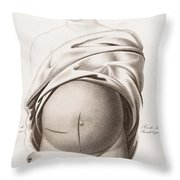 Cesarean Section, Incisions Throw Pillow