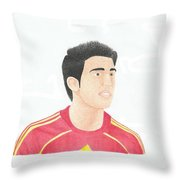 Cesc Fabregas Throw Pillow by Toni Jaso