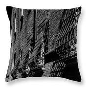 Cesena In Black And White Throw Pillow