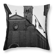 Cesena - Italy - The Cathedral 3 Throw Pillow