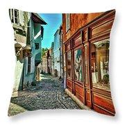 Cesky Krumlov Alley Throw Pillow