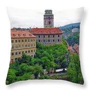Cesky Krumlov Castle Complex In The Czech Republic Throw Pillow