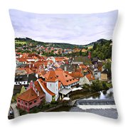 Cesky Krumlov Overview 2 Throw Pillow