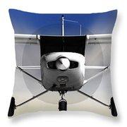 Cessna 152 Flying High Throw Pillow
