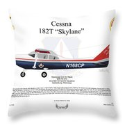Cessna 182t Skylane Throw Pillow