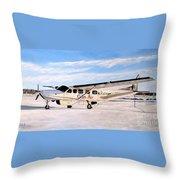Cessna 208 Caravan Throw Pillow
