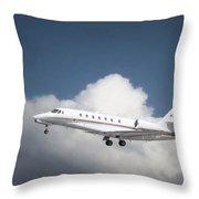 Cessna 680 Throw Pillow