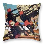 Ceylonese Dockworkers Throw Pillow