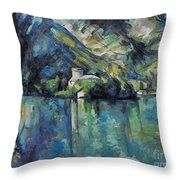 Cezanne: Annecy Lake, 1896 Throw Pillow
