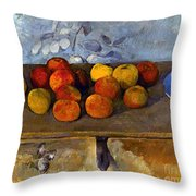 Cezanne: Apples & Biscuits Throw Pillow