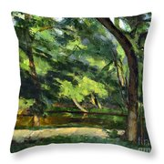 Cezanne: Etang, 1877 Throw Pillow
