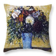 Cezanne: Flowers, 1873-75 Throw Pillow