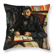 Cezanne: Geffroy, 1895-96 Throw Pillow