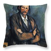 Cezanne: Man, C1899 Throw Pillow