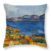 Cezanne Marseilles 1886-90 Throw Pillow