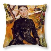 Cezanne: Mme Cezanne, 1890 Throw Pillow