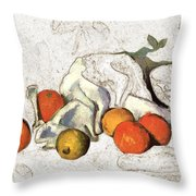 Cezanne Oranges Digital Art Throw Pillow