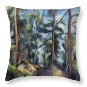 Cezanne: Pines, 1896-99 Throw Pillow