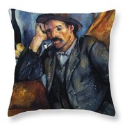 Cezanne: Pipe Smoker, 1900 Throw Pillow