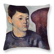 Cezanne: Portrait Of Son Throw Pillow