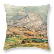 Cezanne: St. Victoire, 1897 Throw Pillow