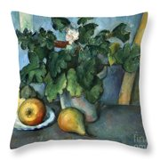 Cezanne: Still Life, C1888 Throw Pillow
